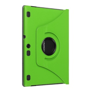 Litchi Leather Protective Case for Lenovo Tab3 10 with Rotary Stand - Green