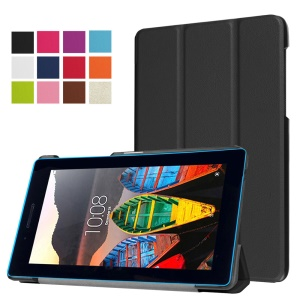 Tri-fold Stand Leather Case for Lenovo Tab3 7.0 730M - Black