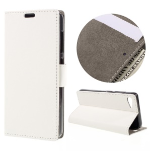 Flip Leather Wallet Stand Cover for Lenovo ZUK Z2 - White