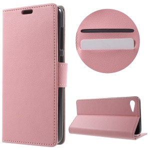 Textured Flip Case Wallet Leather Stand Phone Cover for Lenovo ZUK Z2 - Pink