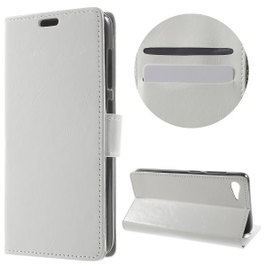 Crazy Horse Wallet Stand Leather Cover for Lenovo ZUK Z2 - White