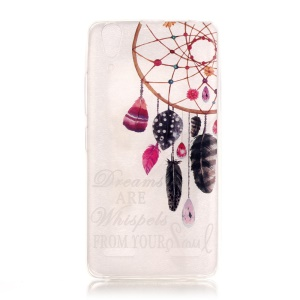 Clear IMD TPU Case for K3 Music Lemon/Lenovo A6000/A6000 Plus/A6010/A6010 Plus - Dream Catcher