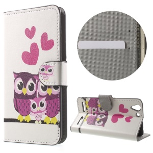 Magnetic Leather Stand Cover for Lenovo Vibe K5 Plus / Vibe K5 - Hearts and Owls