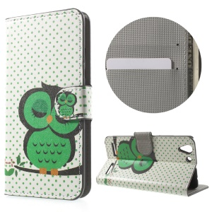 Wallet Leather Protective Case for Lenovo Vibe K5 Plus / Vibe K5 - Sleeping Owl on the Branch