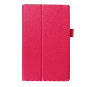 Litchi Texture Stand Leather Shell for Lenovo Tab3 8 - Rose