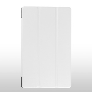 Tri-fold Stand Leather Protective Cover for Lenovo Tab3 8.0 - White