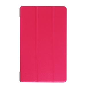 For Lenovo Tab3 8.0 Tri-fold Leather Stand Case - Rose
