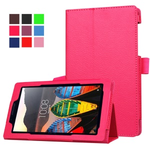 Litchi Texture Stand Leather Shell for Lenovo Tab3 7 - Rose