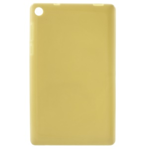 Glossy Outer Matte Inner TPU Phone Case for Lenovo Tab3 7 Essential 710L - Yellow