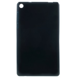 Glossy Outer Matte Inner TPU Shell Cover for Lenovo Tab3 7 Essential 710L - Dark Blue