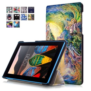 Tri-fold Stand Leather Tablet Cover for Lenovo Tab3 7 730F - Beauty