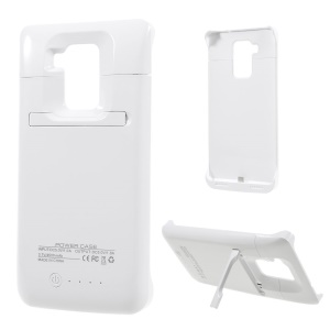 4500mAh External Battery Charger Case with Kickstand for Huawei Mate 8 - White