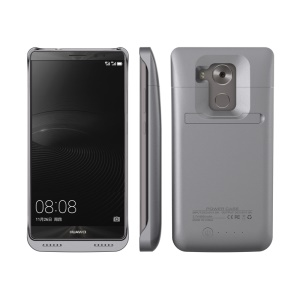 4500mAh External Battery Backup Charger Case with Kickstand for Huawei Mate 8 - Grey