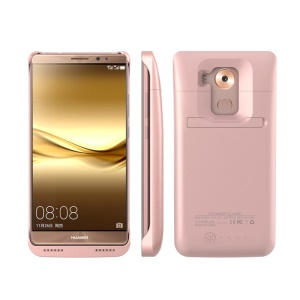 4500mAh Backup Battery Charger Case with Kickstand for Huawei Mate 8 - Rose Gold