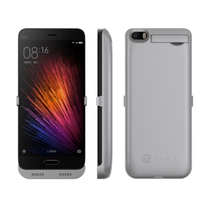 4200mAh Battery Backup Charger Case with Kickstand for Xiaomi Mi 5 - Grey