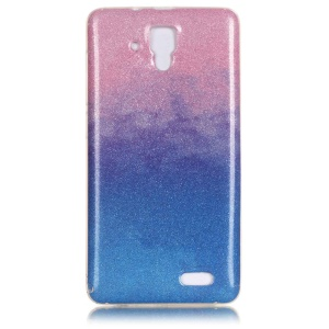 For Lenovo A536 Gradient Flash Powder IMD TPU Phone Case - Pink / Blue