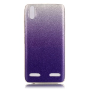 Gradient Color IMD Glitter Powder TPU Skin Case for Lenovo A6000/A6000 Plus/ A6010/A6010 Plus - Purple