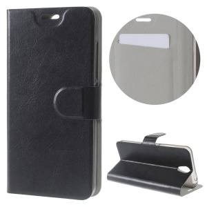 For Lenovo Vibe S1 Lite Crazy Horse Stand Leather Case with Card Slot - Black