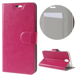 For Lenovo Vibe S1 Lite Crazy Horse Stand Leather Phone Case - Rose