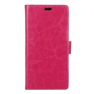 Crazy Horse Wallet Leather Stand Cover for Lenovo A Plus A1010 - Rose