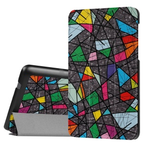 Tri-fold Stand Flip Leather Protection Case for Lenovo Tab3 7.0 730M - Graffiti