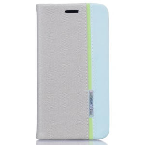 For Lenovo Vibe C A2020 Bi-color Leather Stand Case  - Grey