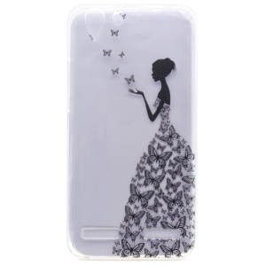 Patterned TPU Gel Case for Lenovo Vibe K5 / Vibe K5 Plus - Butterfly Fairy