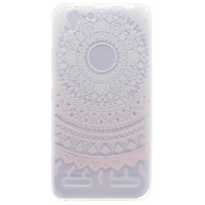 Patterned TPU Gel Case for Lenovo Vibe K5 / Vibe K5 Plus - Mandala Flower