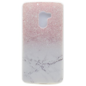 For Lenovo Vibe K4 Note / A7010 / Vibe X3 Lite Patterned Flexible TPU Back Phone Case - Marble and Glitter Pattern