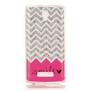 Soft IMD TPU Case for Lenovo A2010 - Chevron and Smile Pattern
