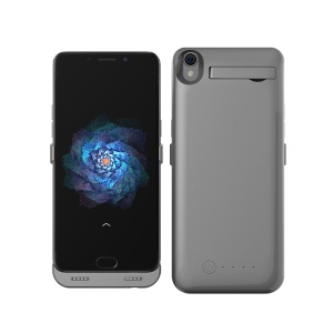 5000mAh Backup Battery Charger Case with Kickstand for Oppo R9 Plus - Grey