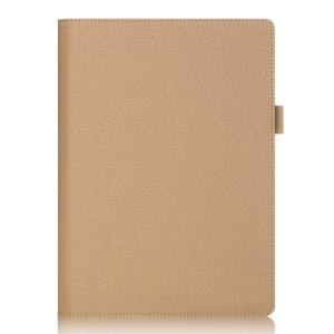 Litchi Texture Leather Tablet Detachable Case with Elastic Strap for Lenovo Yoga Tab 3 Pro 10.1 X90f  - Gold