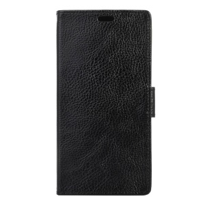 Litchi Texture Leather Wallet Stand Case for Lenovo Vibe C2 Power - Black