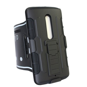 Shock-proof ArmBand Cover PC + Silicone Shell with Kickstand for Motorola Moto X