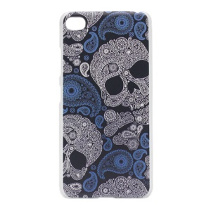 Pattern Printing PC Phone Case for Lenovo Sisley S90 - Paisley Skulls