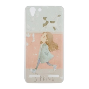 PC Case Patterned Hard Cover for Lenovo Vibe K5 / Vibe K5 Plus - Girl and Dog