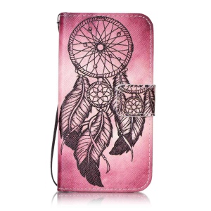 Patterned Leather Wallet Case with Strap for Lenovo Vibe K5 / K5 Plus - Dream Catcher