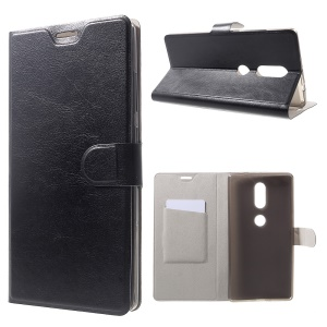 Crazy Horse Leather Card Holder Case for Lenovo Phab2 Plus - Black