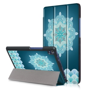 Patterned Smart Leather Tri-fold Stand Cover for Lenovo Tab3 8 Plus - Floral Pattern