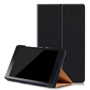 Sand-like Texture Leather Smart Case for Lenovo Tab3 8 Plus with Stand - Black