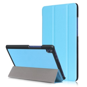 Tri-fold Smart Leather Stand Flip Case for Lenovo Tab3 8 Plus - Baby Blue