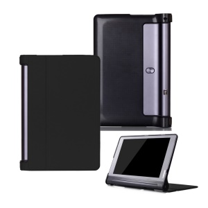 Magnetic Flip Leather Case with Stand for Lenovo Yoga Tab 3 Plus 10.1 YT-X703 / Lenovo Yoga Tab 3 Pro 10.1 X90L/F - Black