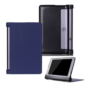 Magnetic Flip Leather Shell Casing with Stand for Lenovo Yoga Tab 3 Plus 10.1 YT-X703 / Lenovo Yoga Tab 3 Pro 10.1 X90L/F - Dark Blue