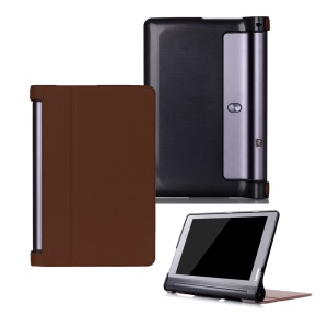 Magnetic Flip Leather Protection Cover Casing with Stand for Lenovo Yoga Tab 3 Plus 10.1 YT-X703 / Lenovo Yoga Tab 3 Pro 10.1 X90L/F - Brown