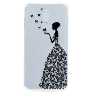 Patterned TPU Protection Cover for Lenovo Vibe P1 / P1 Turbo - Girl in Butterfly Dress