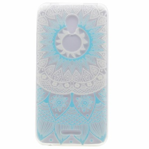 Pattern Printing TPU Soft Back Case for Lenovo A Plus A1010 - Henna Flower