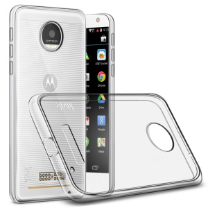 IMAK Silky Anti-scratch TPU Mobile Cover for Motorola Moto Z Force with Screen Protector - Transparent