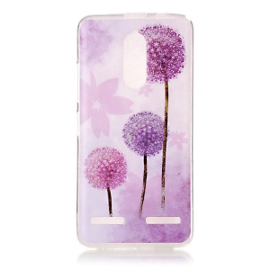 Pattern Printing IMD Soft TPU Cover Case for Lenovo K6 / K6 Power - Purple Dandelion