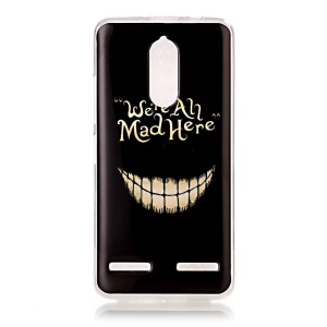 Pattern Printing IMD Soft TPU Cellphone Back Casing for Lenovo K6 / K6 Power - We Are All Mad Here
