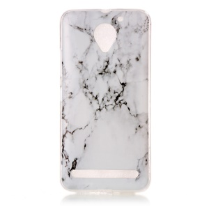 Pattern Printing IMD TPU Case Cover Shell for Lenovo Vibe C2 - Marble Pattern